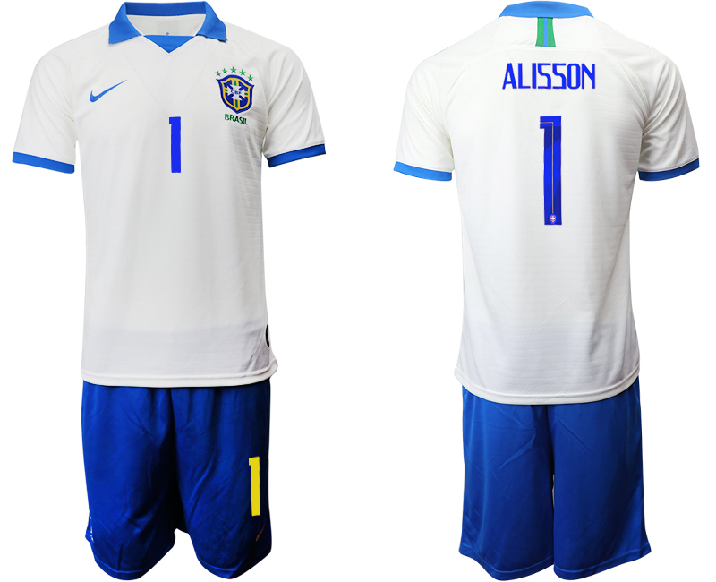2019-20 Brazil 1 ALISSON White Special Edition Soccer Jersey