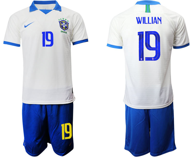 2019-20 Brazil 19 WILLIAN White Special Edition Soccer Jersey