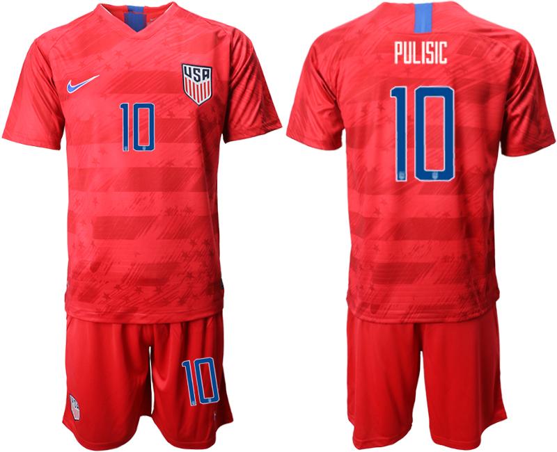 2019-20 USA 10 PULISIC Away Soccer Jersey