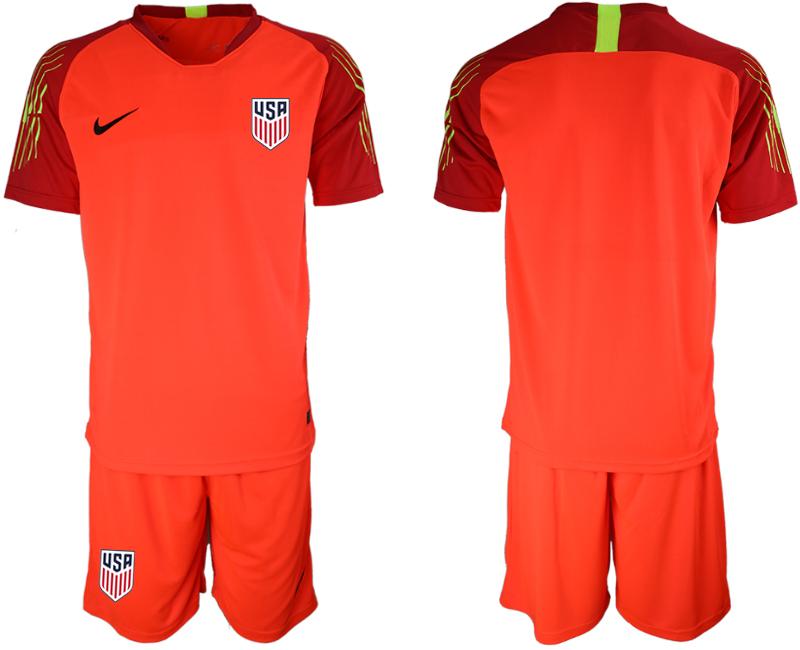 2019-20 USA Red Goalkeeper Soccer Jersey