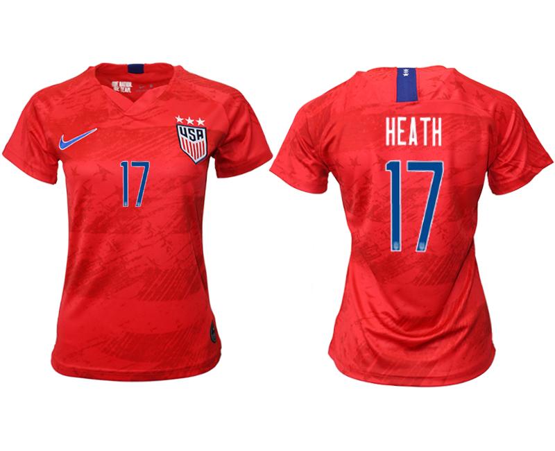 2019-20 USA 17 HEATH Away Women Soccer Jersey
