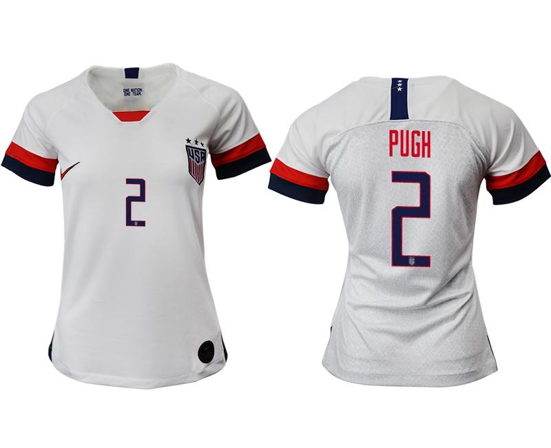 2019-20 USA 2 PUGH Home Women Soccer Jersey