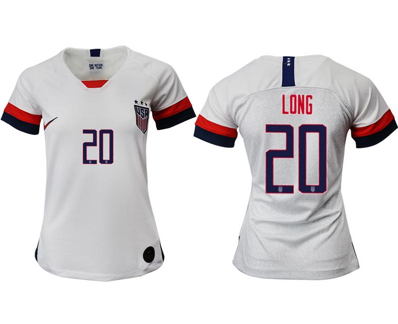 2019-20 USA 20 LONG Home Women Soccer Jersey