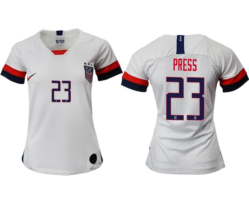 2019-20 USA 22 PRESS Home Women Soccer Jersey