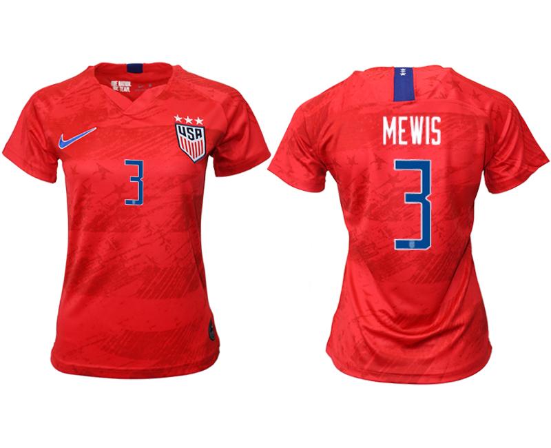 2019-20 USA 3 MEWIS Away Women Soccer Jersey