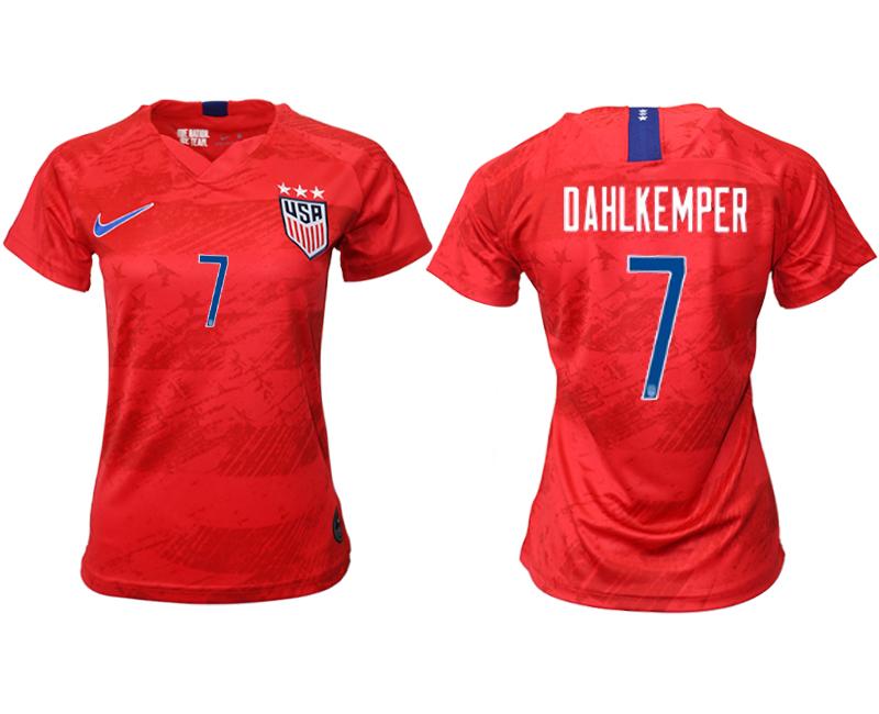 2019-20 USA 7 DAHLKEMPER Away Women Soccer Jersey