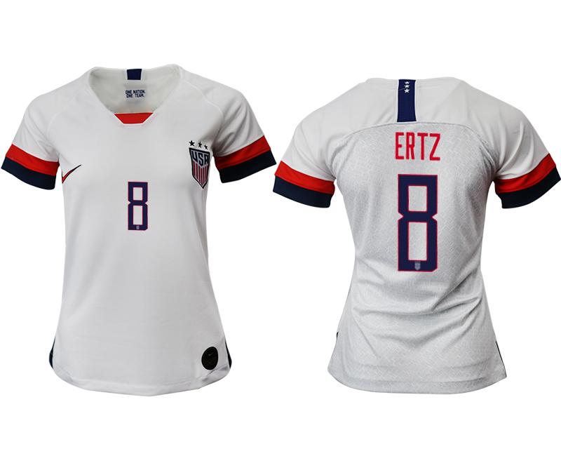2019-20 USA 8 ERTZ Home Women Soccer Jersey