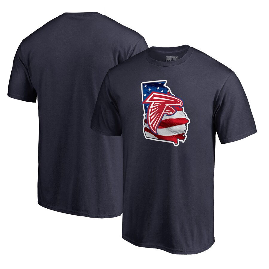 Atlanta Falcons NFL Pro Line by Fanatics Branded Banner State T-Shirt Navy