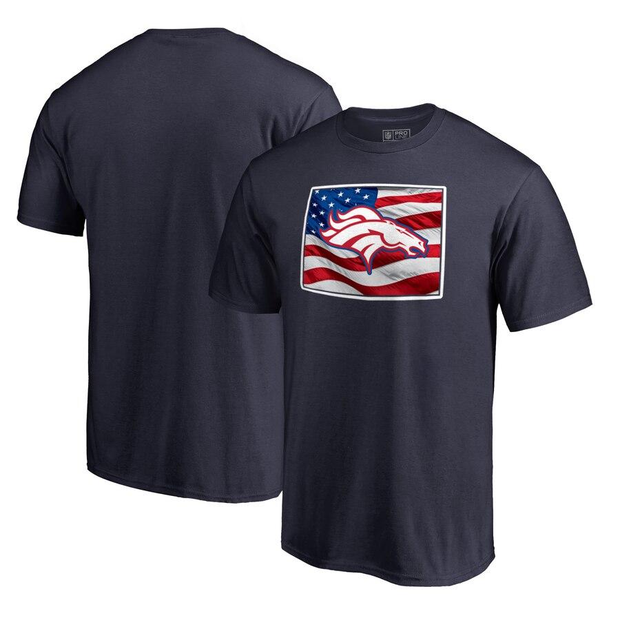 Denver Broncos NFL Pro Line by Fanatics Branded Banner State T-Shirt Navy