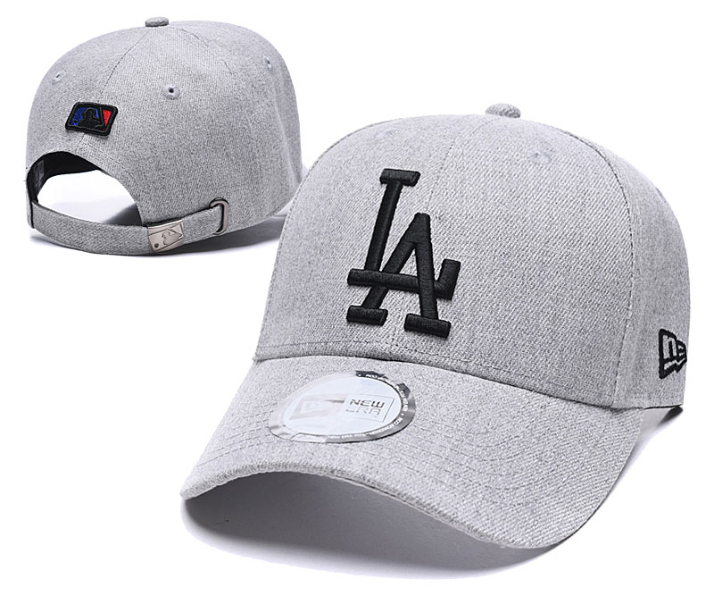 Dodgers Fresh Logo Gray Peaked Adjustable Hat TX