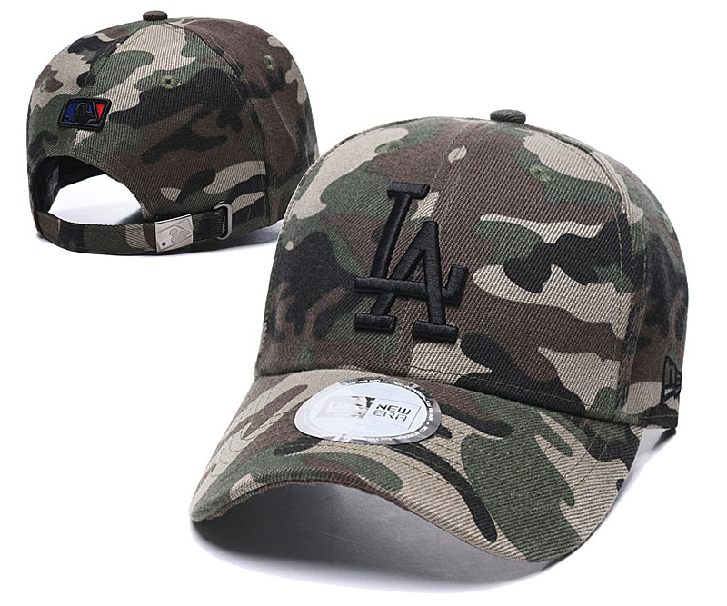Dodgers Team Logo Camo Adjustable Peaked Hat TX.jpeg