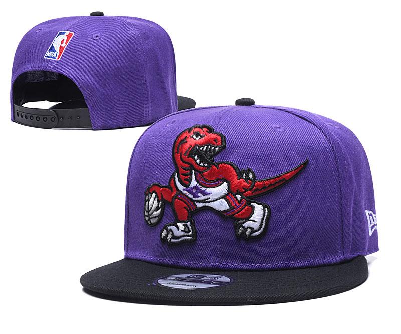Raptors Team Logo Purple Black Adjustable Hat TX