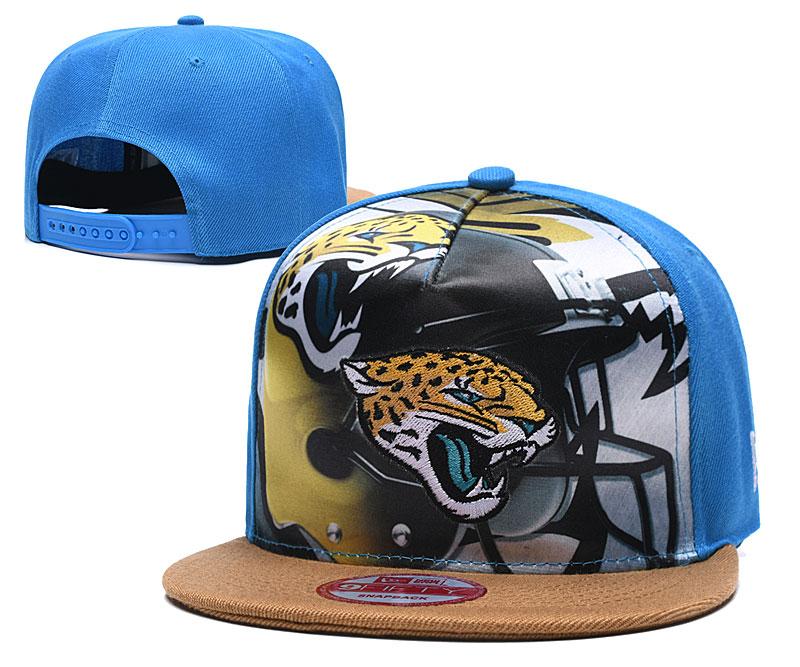 Jaguars Team Logo Blue Adjustable Leather Hat TX