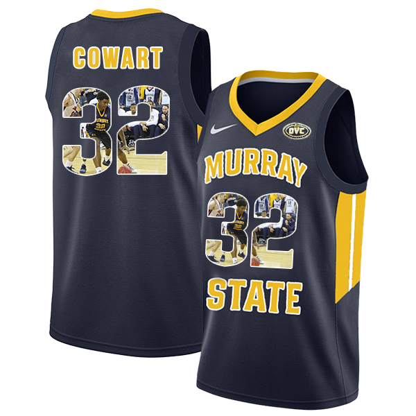 Murray State Racers 32 Darnell Cowart Navy Fashion College Basketball Jersey
