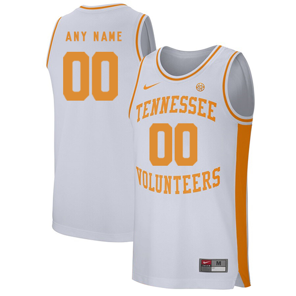 Tennessee Volunteers Customized White College Basketball Jersey