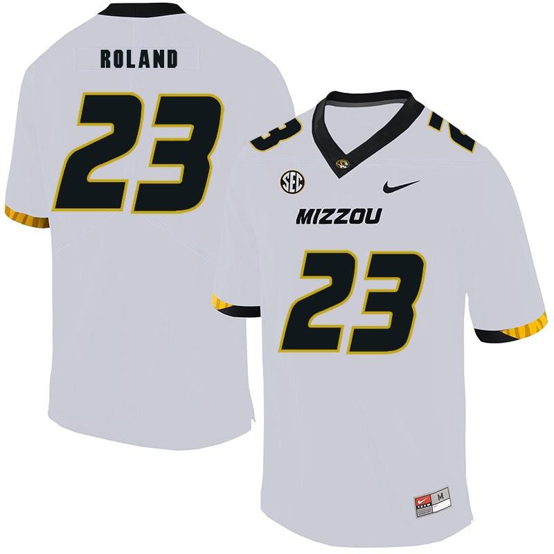Missouri Tigers 23 Johnny Roland White Nike College Football Jersey