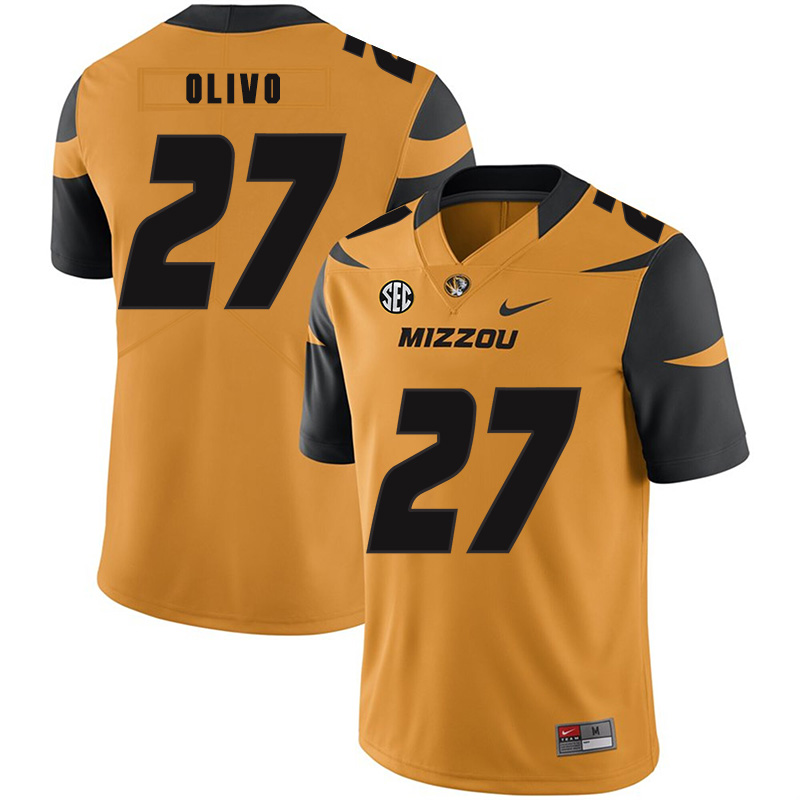 Missouri Tigers 27 Brock Olivo Gold Nike College Football Jersey