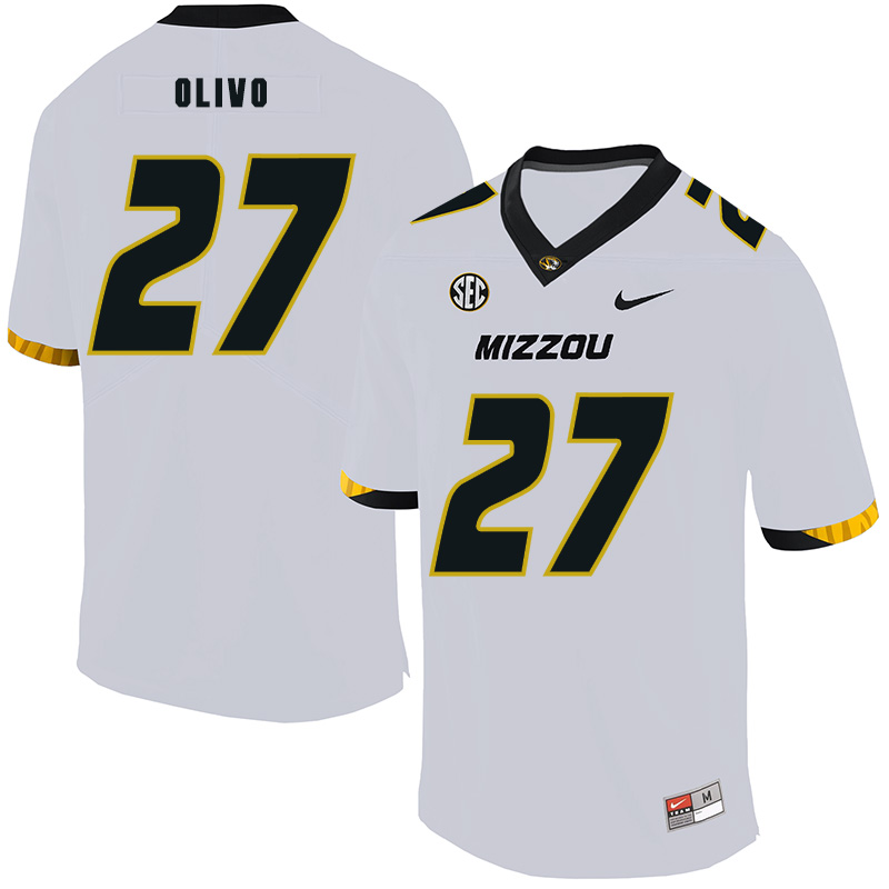 Missouri Tigers 27 Brock Olivo White Nike College Football Jersey
