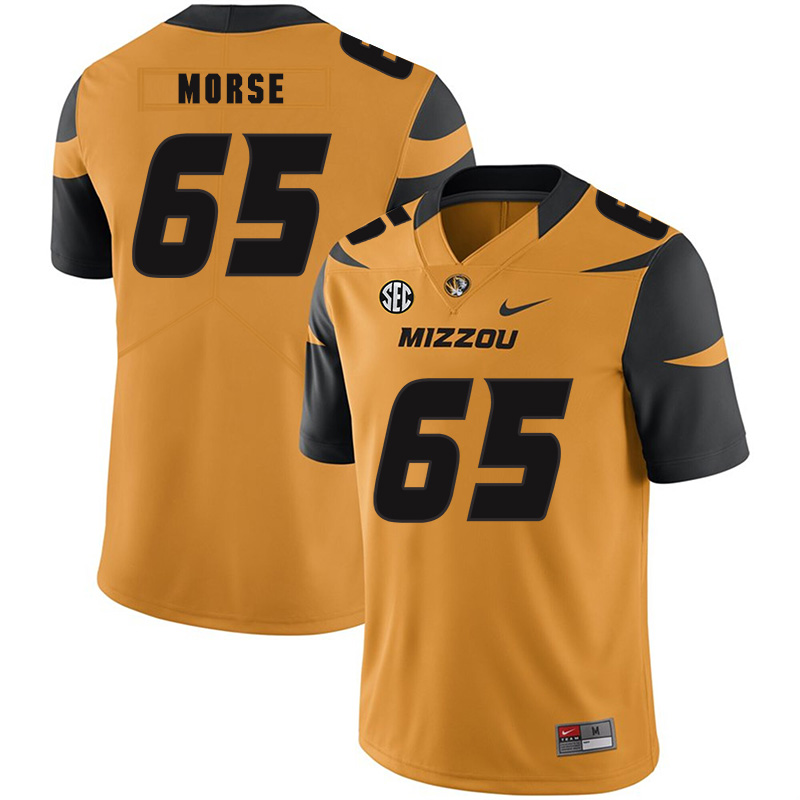 Missouri Tigers 65 Mitch Morse Gold Nike College Football Jersey