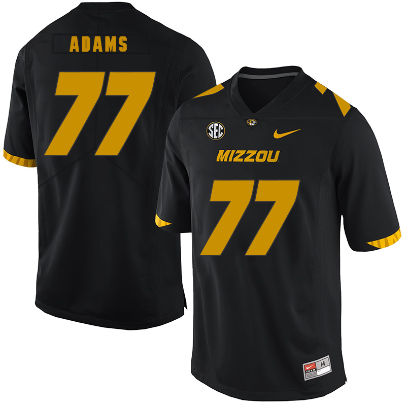 Missouri Tigers 77 Paul Adams Black Nike College Football Jersey