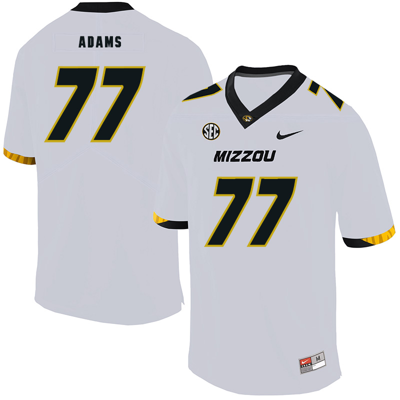 Missouri Tigers 77 Paul Adams White Nike College Football Jersey