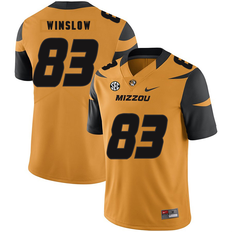 Missouri Tigers 83 Kellen Winslow Gold Nike College Football Jersey