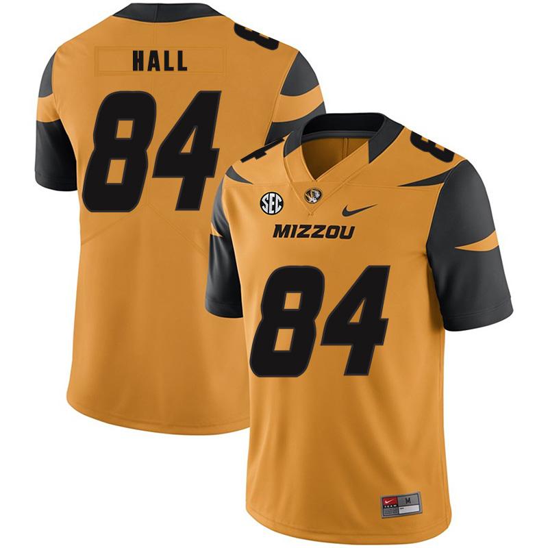 Missouri Tigers 84 Emanuel Hall Gold Nike College Football Jersey
