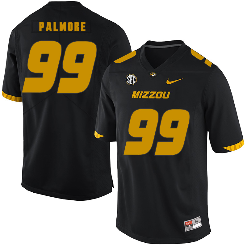 Missouri Tigers 99 Walter Palmore Black Nike College Football Jersey
