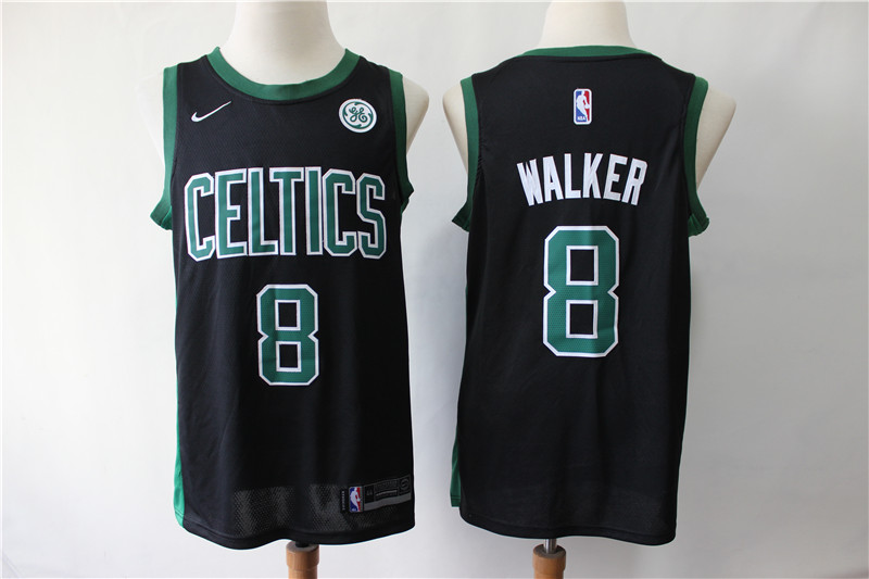 Celtics 8 Kemba Walker Black Nike Swingman Jersey