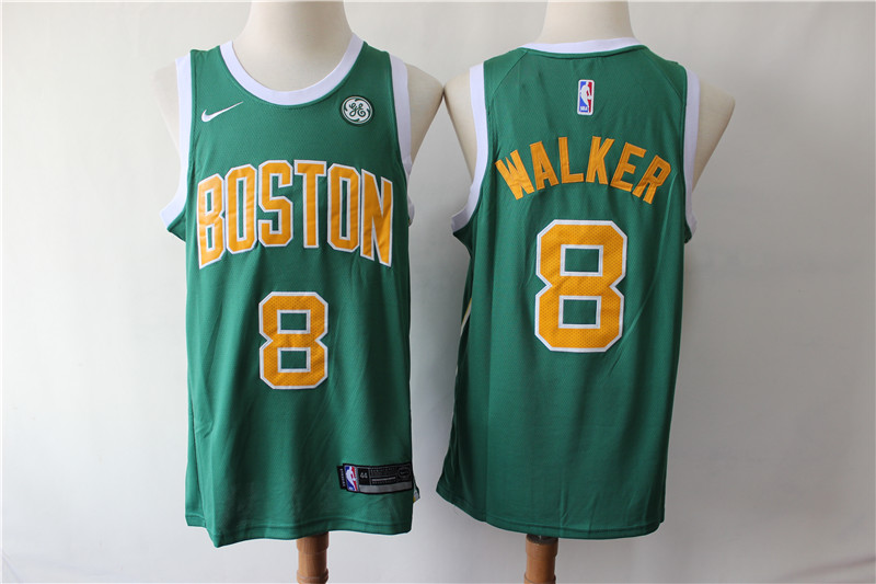 Celtics 8 Kemba Walker Green Earned Edition Nike Swingman Jersey