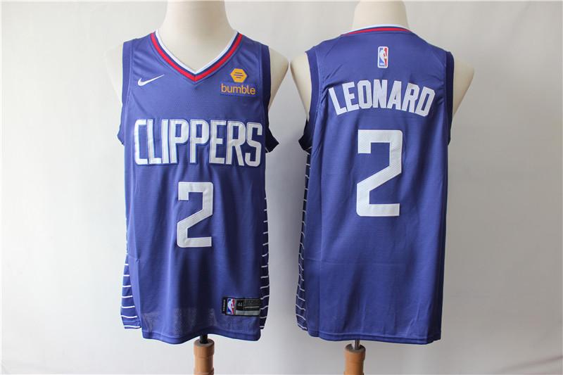 Clippers 2 Kawhi Leonard Blue Nike Swingman Jersey