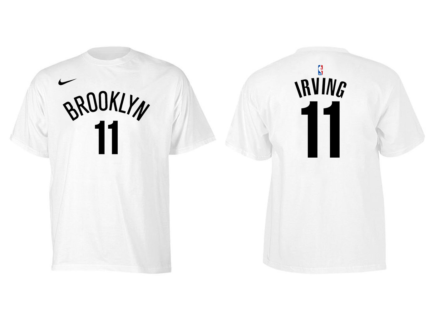 Brooklyn Nets 11 Kyrie Irving White Nike T-Shirt