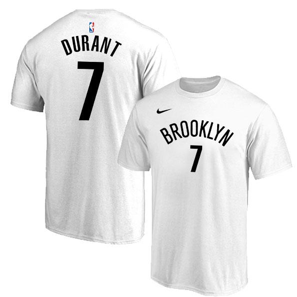 Brooklyn Nets 7 Kevin Durant White Nike T-Shirt