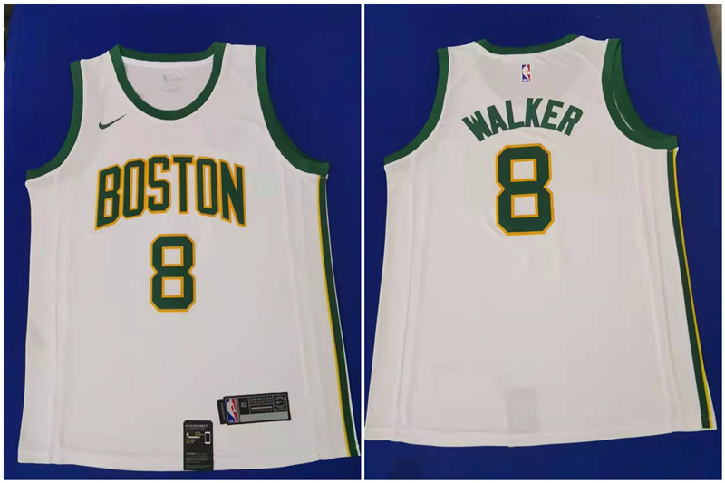Celtics 8 Kemba Walker White City Edition Nike Swingman Jersey