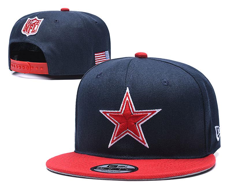Cowboys Team Logo Navy Red Adjustable Hat YD