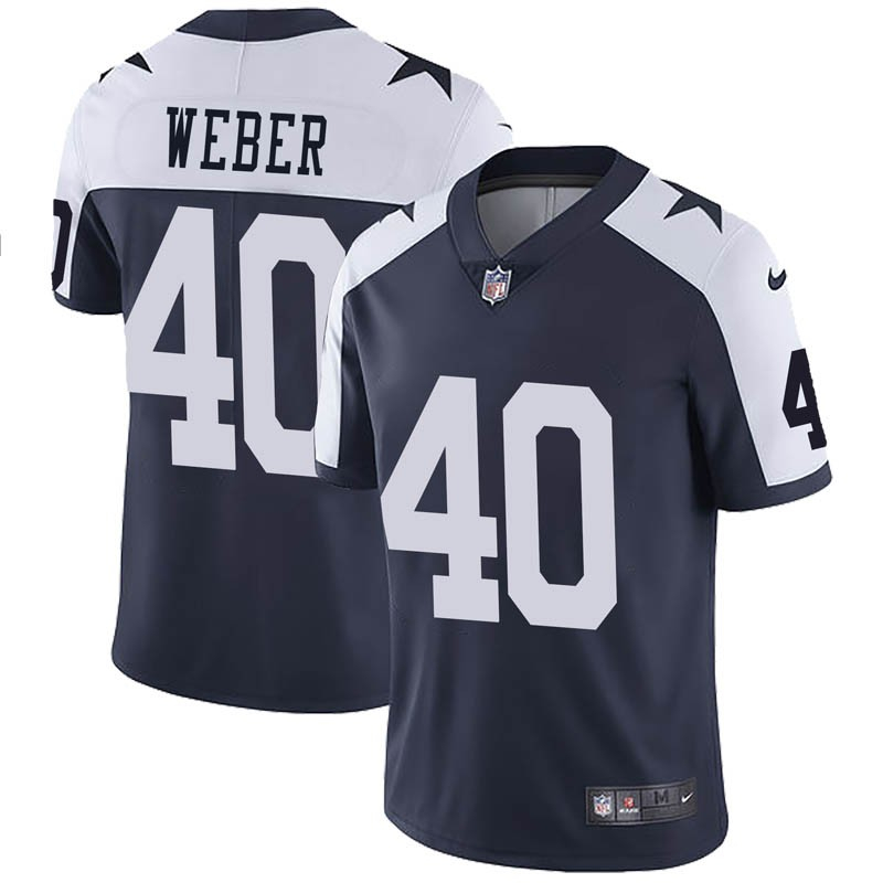 Nike Cowboys 40 Mike Webe Navy Throwback Vapor Untouchable Limited Jersey