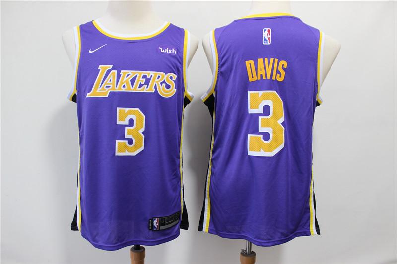 Lakers 3 Anthony Davis Purple Nike Swingman Jersey