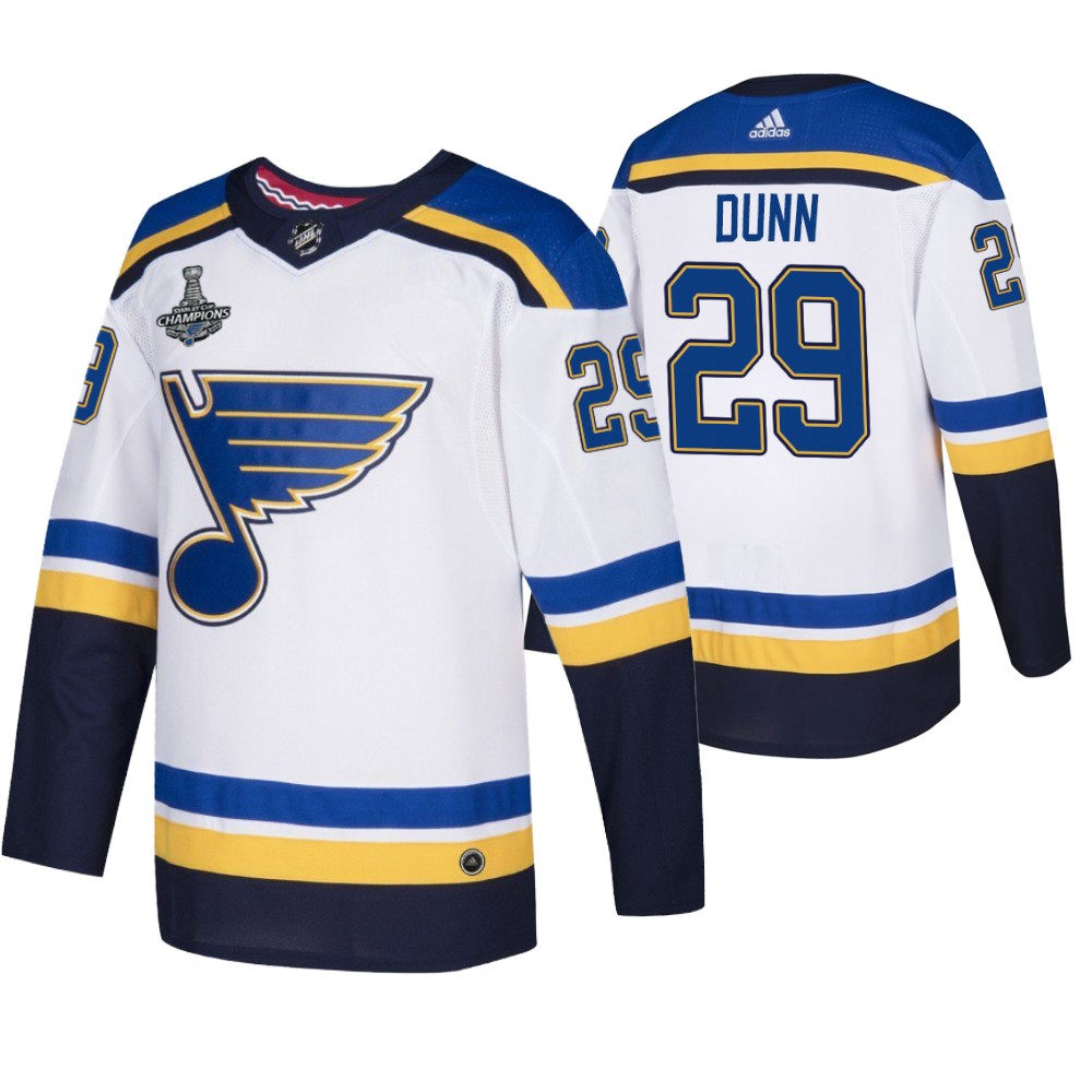 Blues 29 Vince Dunn White 2019 Stanley Cup Champions Adidas Jersey