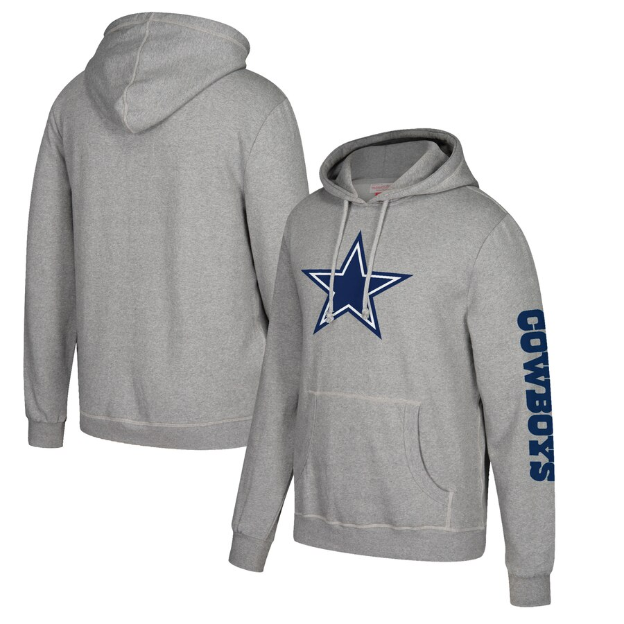 Dallas Cowboys Mitchell & Ness Classic Team Pullover Hoodie Heathered Gray