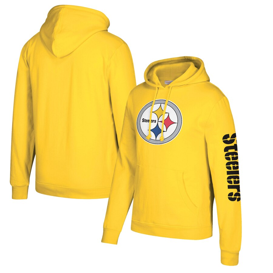 Pittsburgh Steelers Mitchell & Ness Classic Team Pullover Hoodie Gold