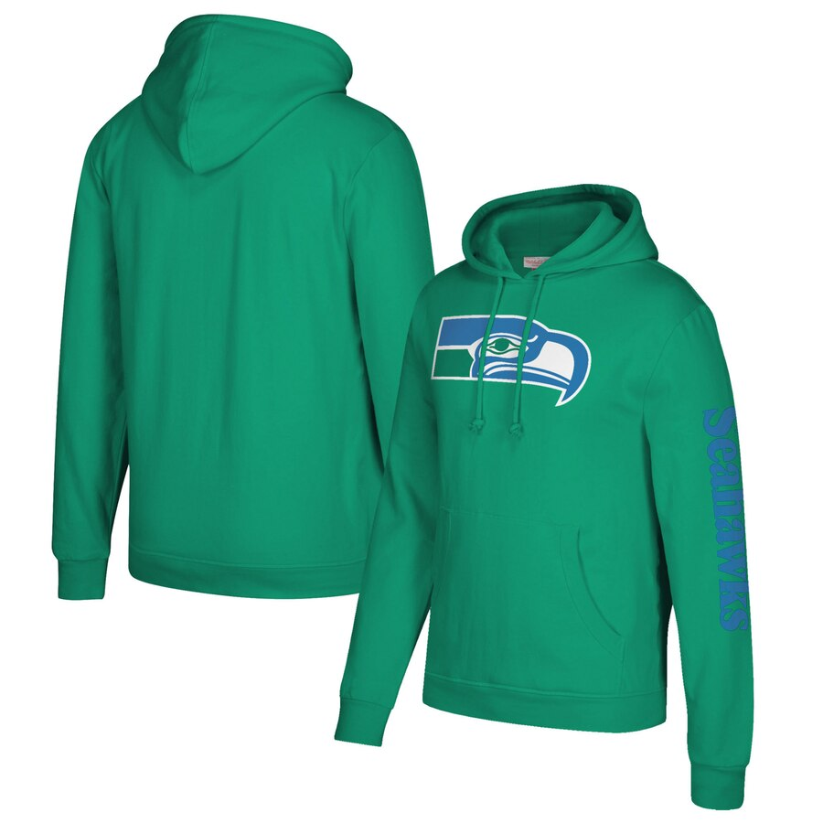 Seattle Seahawks Mitchell & Ness Classic Team Pullover Hoodie Kelly Green
