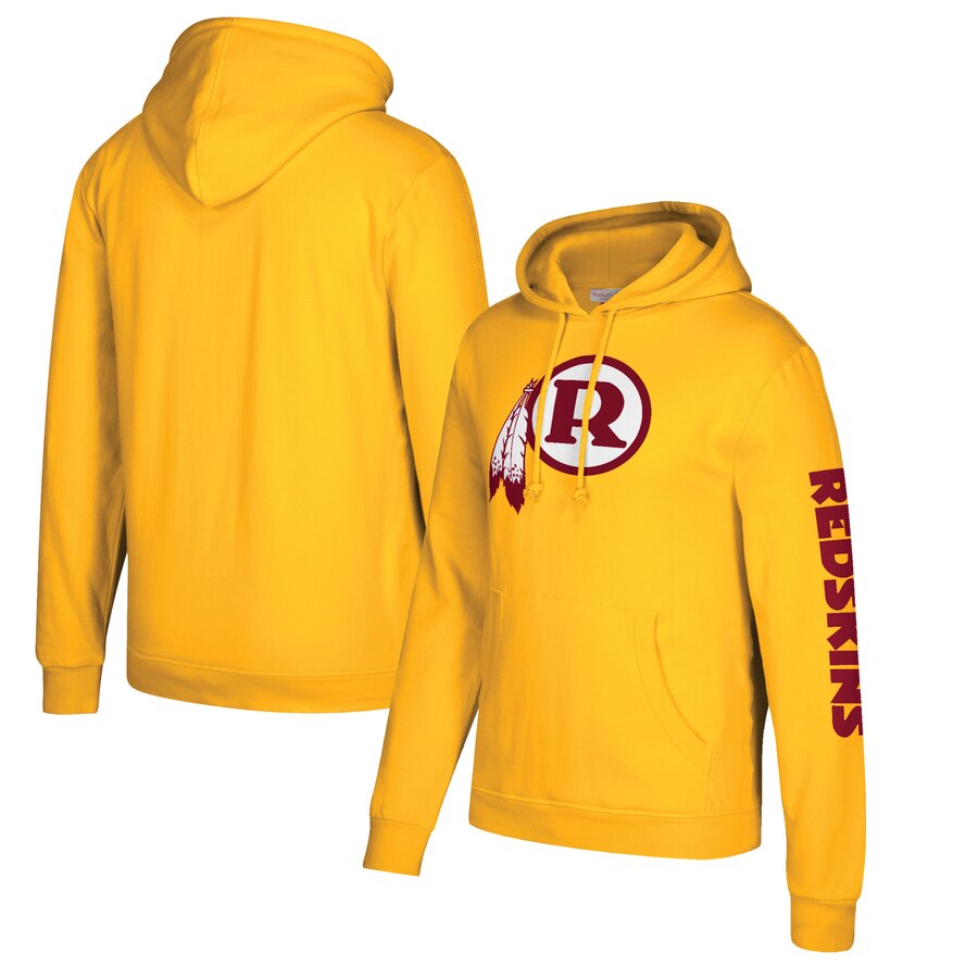 Washington Redskins Mitchell & Ness Classic Team Pullover Hoodie Gold