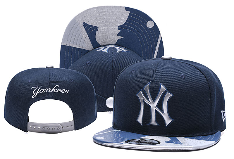 Yankees Team Logo Navy Adjustable Hat YD