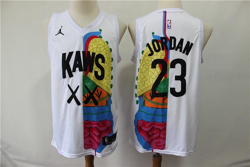 KAWS X Jordan 23 Michael Jordan White NBA Jersey