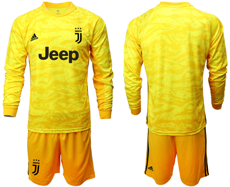 2019-20 Juventus Yellow Long Sleeve Goalkeeper Soccer Jersey