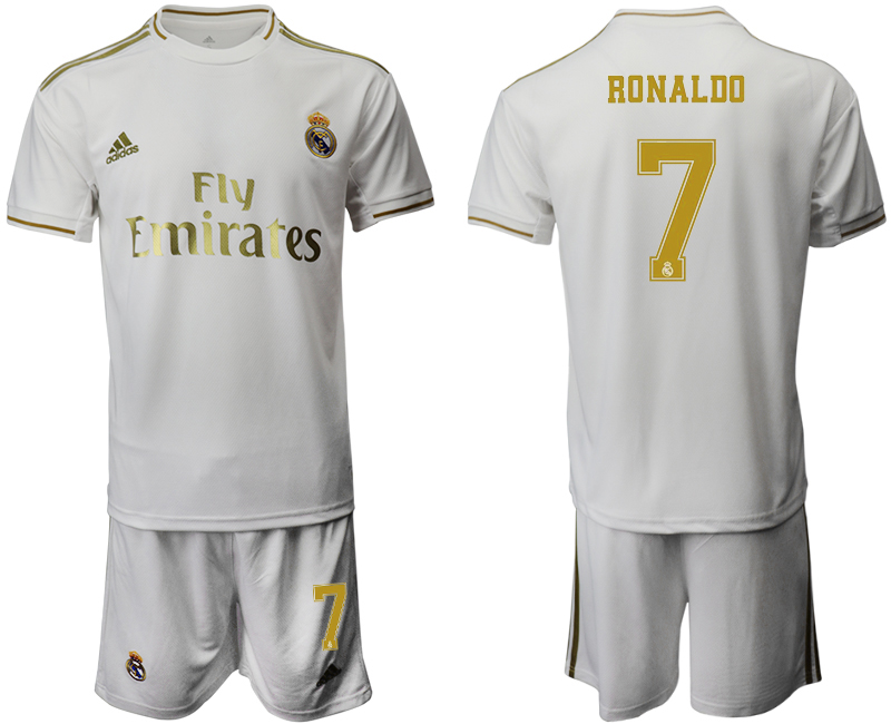 2019-20 Real Madrid 7 RONALDO Home Soccer Jersey