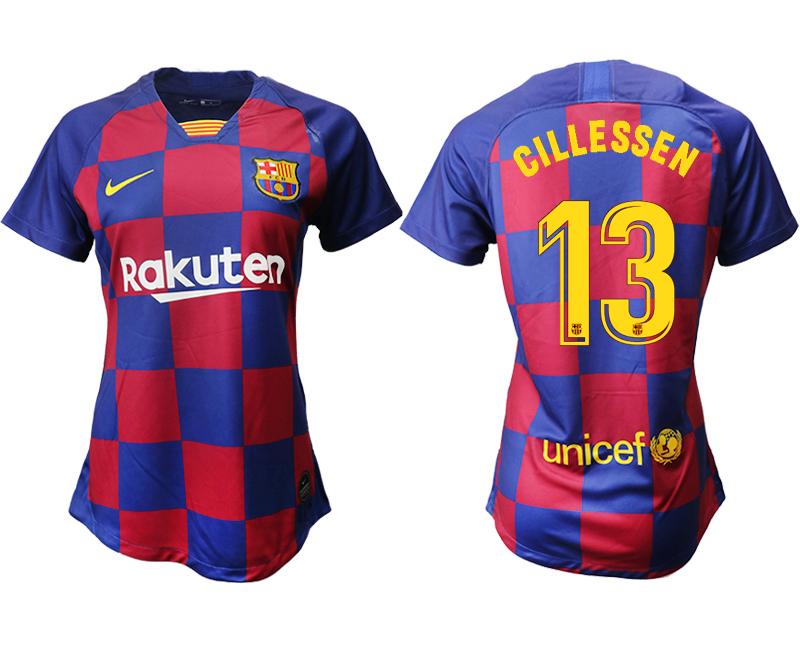 2019-20 Barcelona 13 CILLESSEN Home Women Soccer Jersey