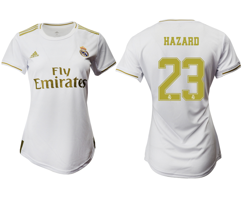 2019-20 Real Madrid 23 HAZARD Home Women Soccer Jersey