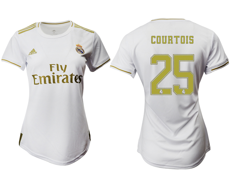 2019-20 Real Madrid 25 COURTOIS Home Women Soccer Jersey