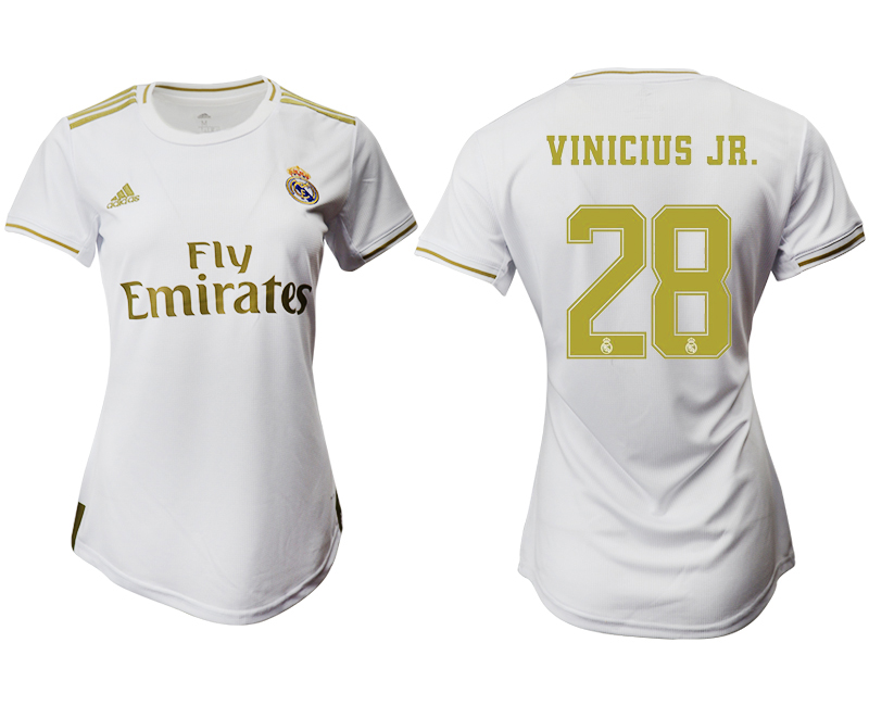 2019-20 Real Madrid 28 VINICIUS JR. Home Women Soccer Jersey